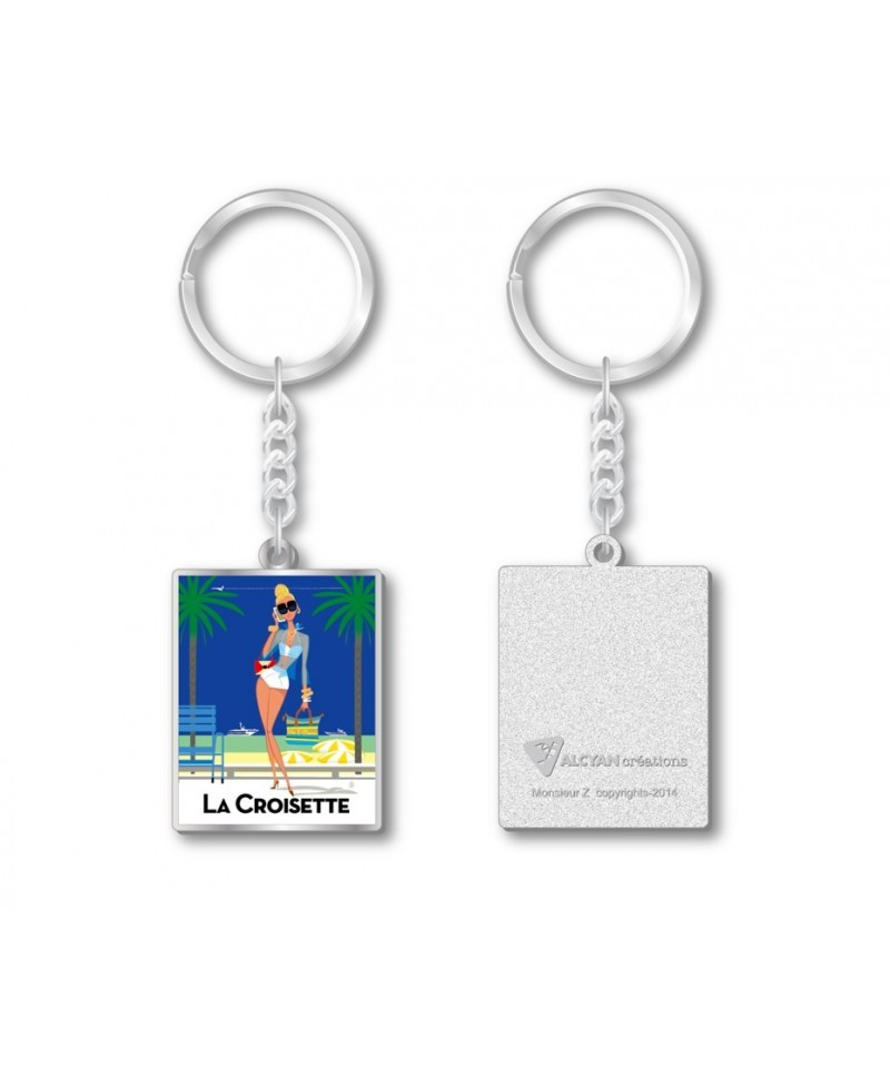 Porte clef croisette french riviera monsieur z coque in for Porte in french