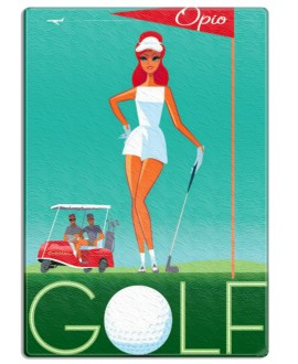Planche verre Golf hole in one by Mr Z