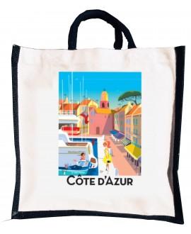 Sac coton / Jute Port de St Tropez Monsieur Z