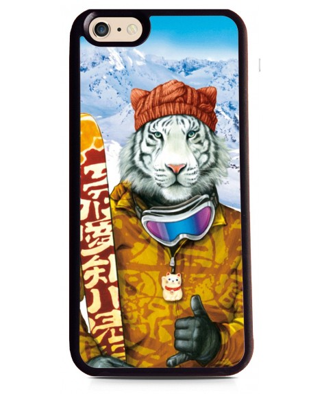 Coque Tigre Fun au Ski