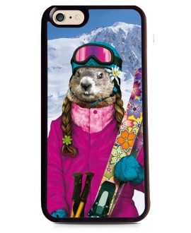 Coque Marmotte Fun au Ski